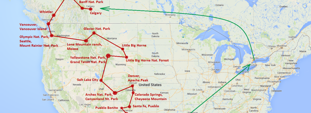 Western Canada USA TrekkingPartners – Map of Western Canada and Usa